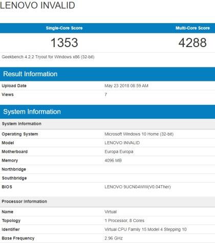 Фото - ARM-ноутбук Lenovo Europa на базе Snapdragon 845 и Windows 10 засветился в Сети»