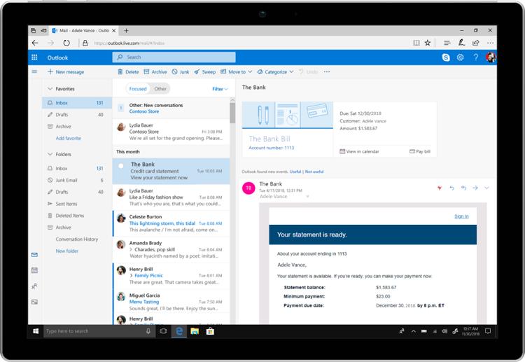 Фото - Microsoft анонсировала ряд улучшений для почты Outlook»