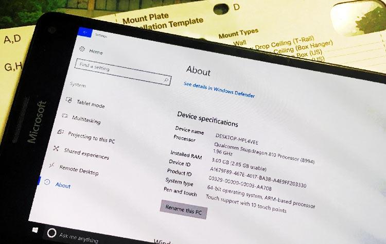 Фото - ARM-версия Windows 10 почти полностью работоспособна на Lumia 950 XL»