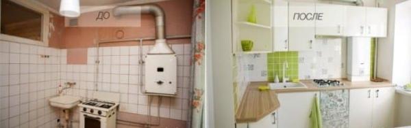 Фото - 6 советов, как спрятать газовую трубу на кухне + фото