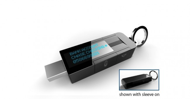 Фото - myIDkey — флэшка с биометрической системой защиты