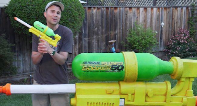 Фото - #видео | Бывший инженер NASA собрал самый мощный водяной пистолет