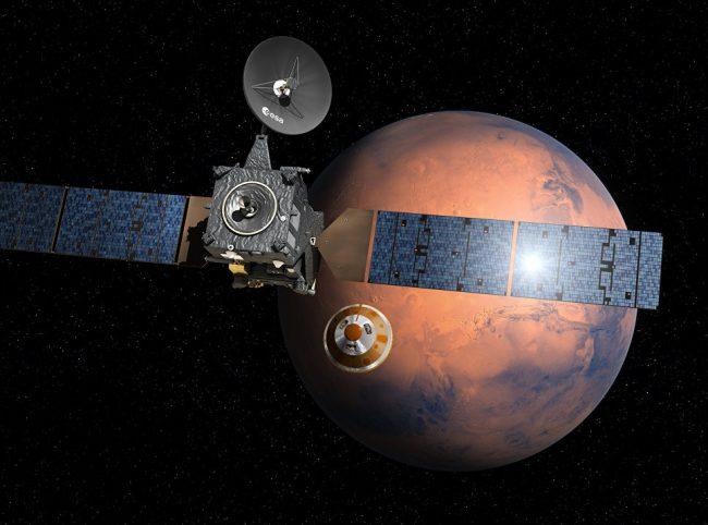 Фото - Марсианский орбитальный зонд Trace Gas Orbiter приступил к своей научной миссии