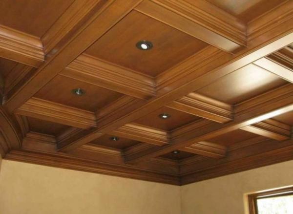 Фото - 9 советов по выбору кессонного потолка из дерева, гипсокартона, МДФ и полиуретана