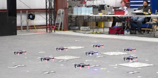 Фото - Квадрокоптеры научили летать стаями без GPS