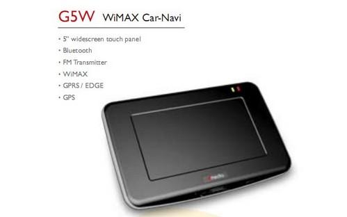 Фото - Dmedia G5W — GPS навигатор с WiMax