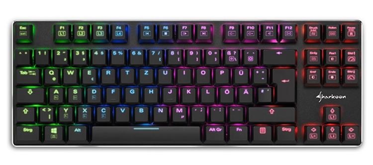 Фото - Компактная клавиатура Sharkoon PureWriter TKL RGB получила многоцветную подсветку»