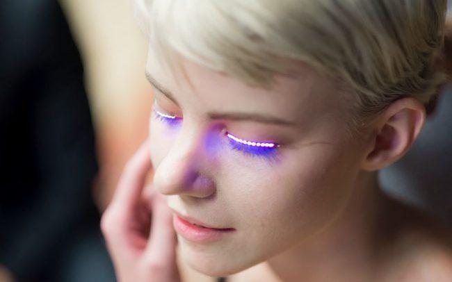 Фото - Мода будущего: интерактивные светодиодные ресницы f.lashes