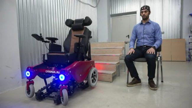 Фото - #видео | Житель Новосибирска изобрел инвалидную коляску, управляемую силой мысли