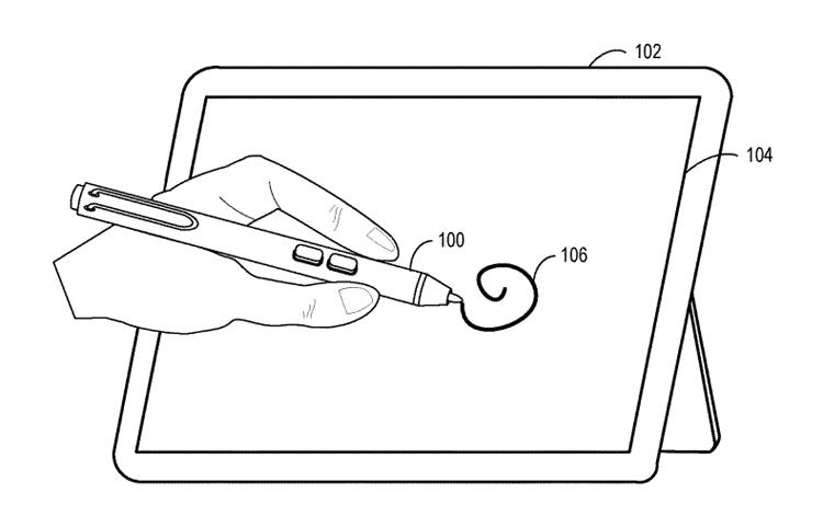 Фото - В Microsoft придумали электронное перо с сенсорным зажимом»