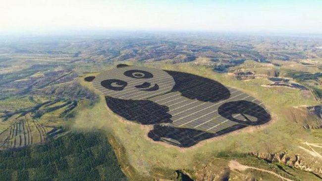 Фото - В Китае построили солнечную электростанцию в виде панды