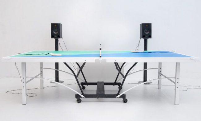 Фото - Ping Pong FM – музыкальный стол для игры в настольный теннис