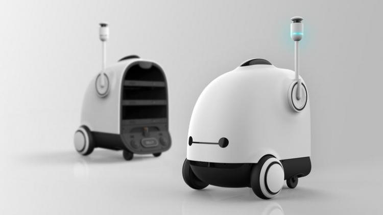 Фото - Корейская компания Woowa Brothers разработала робота для доставки еды клиентам»