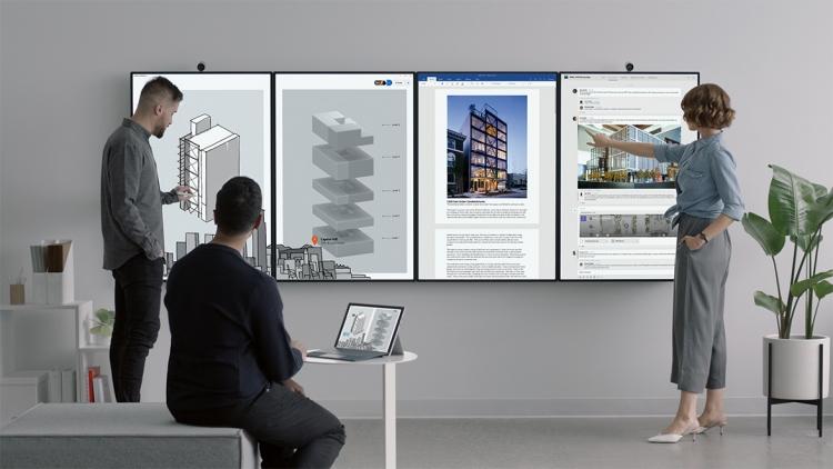 Фото - Microsoft представила гигантский дисплей для работы в офисе Surface Hub 2″
