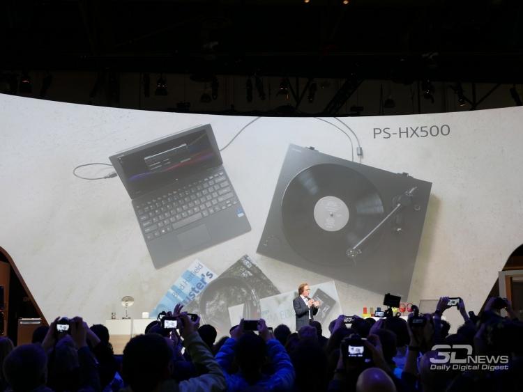 Фото - CES 2016: Sony PS-HX500 — виниловый проигрыватель с USB-портом»