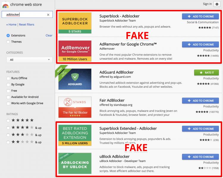 Фото - Более 20 млн пользователей Chrome стали жертвами вредоносных блокировщиков рекламы»