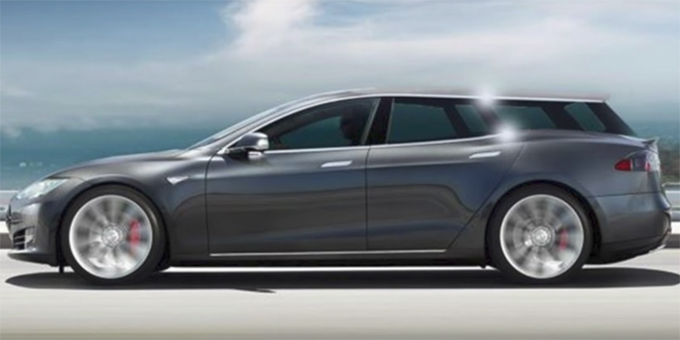 Фото - В Европе может появиться универсал на базе электромобиля Tesla Model S»