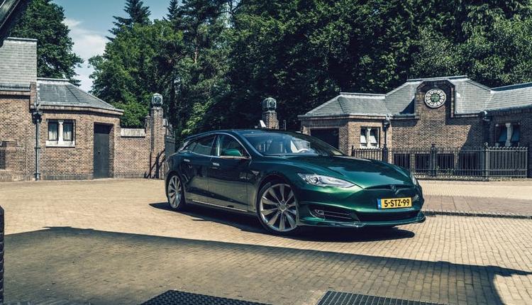 Фото - Фото дня: спорт-универсал на базе электрокара Tesla Model S»